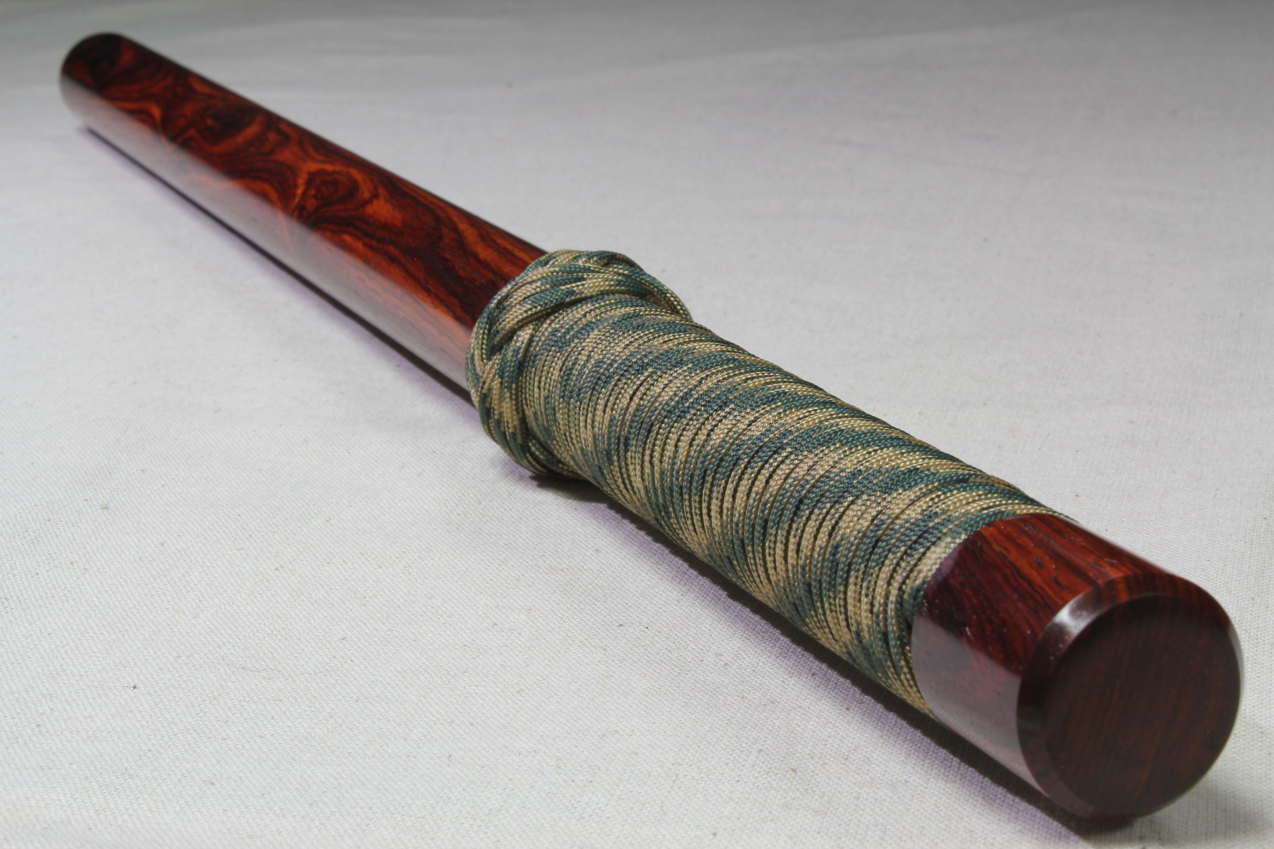 Cocobolo - Smooth - Camo Cord - Wood Baton