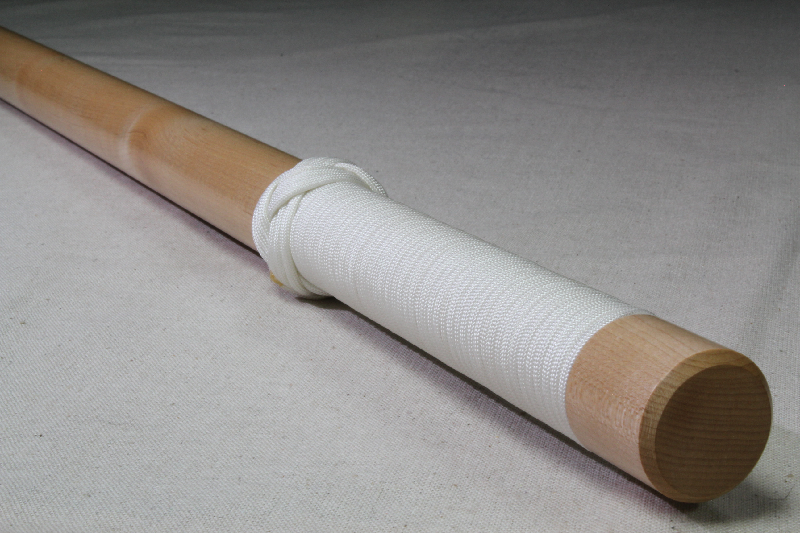 Maple - Smooth - White Cord - Wood Baton
