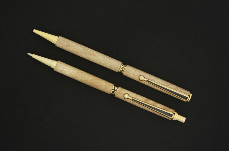 7mm - Woodcraft Gold - Wood - Ball Point - Pen
