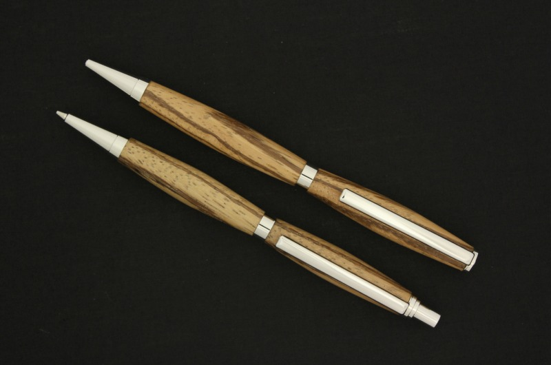 7mm - Platinum - Wood - Ball Point - Pen